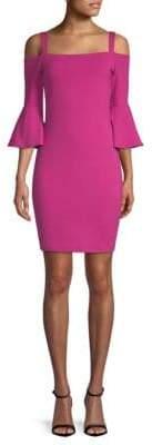 Susana Monaco Cold-Shoulder Bell-Sleeve Dress