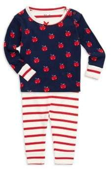 Hatley Baby Girl's Two-Piece Smiling Apples Pajama Set