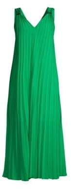 Escada Sport Daheem V-Neck Pleated Maxi Dress
