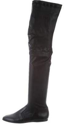Robert Clergerie Leather Over-The-Knee Boots w/ Tags
