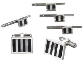 David Donahue Onyx and Mother-of-Pearl Cufflinks Set