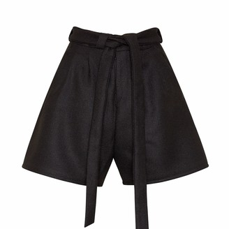 Bo Carter Doralis Wool Shorts Black