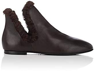 The Row Women's Eros Leather Ankle Boots - Brown