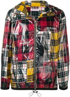 Palm Angels patchwork plaid windbreaker