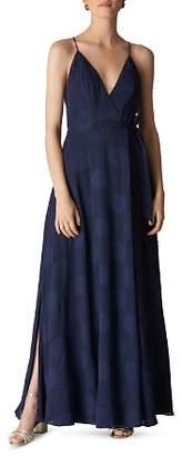 Whistles Noa Jacquard Maxi Wrap Dress