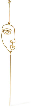 Sarah & Sebastian - Long Face 14-karat Gold Earring - One size $425 thestylecure.com