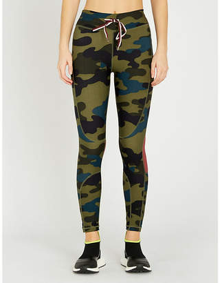 The Upside Army Camo cropped high-rise printed stretch-jersey leggings
