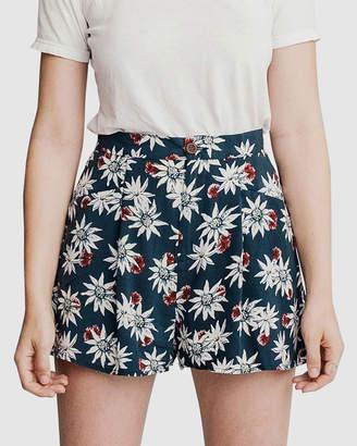 Quiksilver Womens High Waisted Floral Short