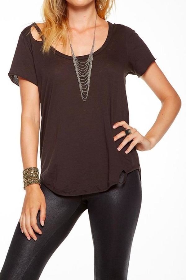 Chaser Chaser Deconstructed Shirt Tail Top