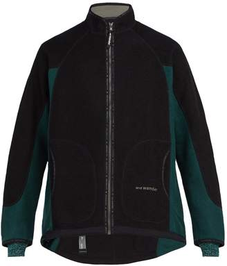 AND WANDER Air two-tone wool-blend fleece jacket