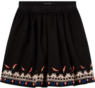 Scotch & Soda Embroidered Border Skirt