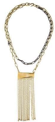 Paige Novick Crystal Tassel Pendant Necklace