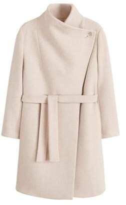 Violeta BY MANGO Wide lapel wool-blend coat