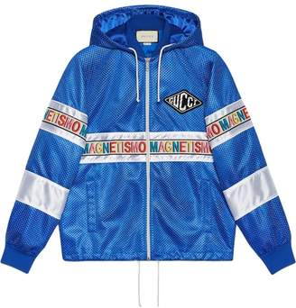 Gucci Net jacket with Magnetismo stripe