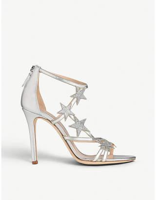 LK Bennett x Jenny Packham Felicity star-appliqué metallic leather sandals