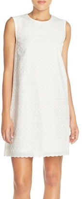 Women's French Connection 'Bixa' Embroidered Cotton Shift Dress $178 thestylecure.com