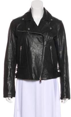 Emporio Armani Asymmetrical Leather Jacket