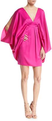 Trina Turk Blossom Kimono-Sleeve Mini Cocktail Dress