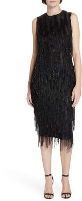 Diane von Furstenberg Nadi Fringe Sheath Dress