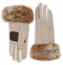 Echo Rabbit Fur Cuff Gloves