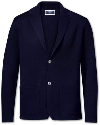 Charles Tyrwhitt Navy Merino Wool Blazer Size XXL