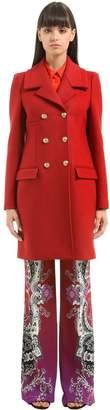 Roberto Cavalli Double Breasted Wool Coat