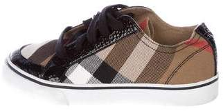 Burberry Girls' Canvas House Check Sneakers