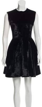 Cushnie et Ochs Velvet Fit & Flare Dress