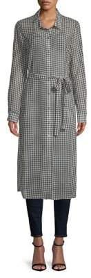 Calvin Klein Gingham Belted Shirtdress