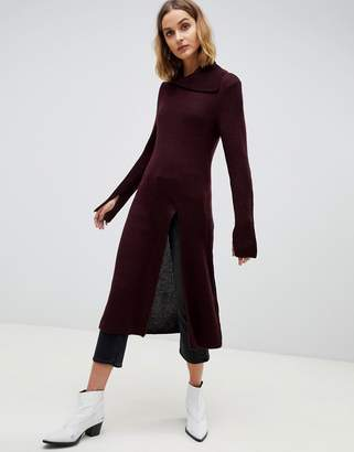 Asos knitted tunic with front split
