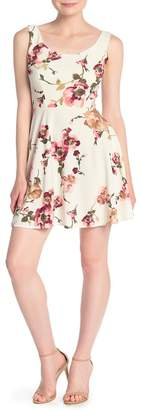 Love...Ady Floral Printed Skater Dress