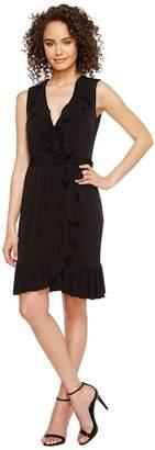 Calvin Klein Ruffle Neck Jersey Dress Women's Dress