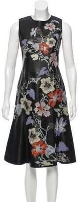 Alexander McQueen Embroidered Leather Dress