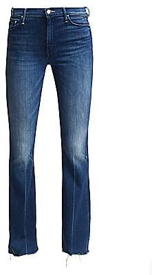 Mother Women's The Weekender Frayed Flare Jeans