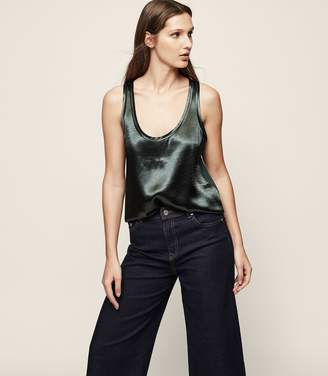 Reiss Hula Metallic Tank Top