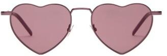 Saint Laurent Lou Lou Heart Metal Sunglasses - Womens - Pink