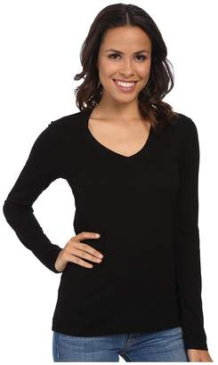 Mod-o-doc Supreme Jersey Fitted L/S V-Neck Women's T Shirt