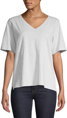 Eileen Fisher V-Neck Cotton Tee