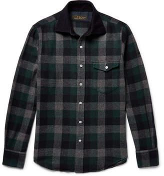 Freemans Sporting Club Hopkins Checked Wool-Blend Flannel Overshirt