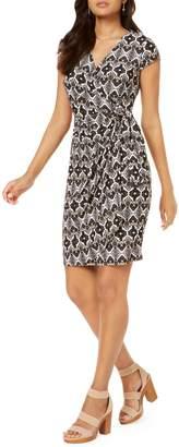 INC International Concepts Petite Printed Wrap Dress