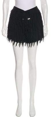 Marco De Vincenzo Fringe Mini Skirt