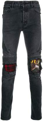 Marcelo Burlon County of Milan biker jeans