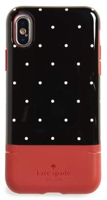 Kate Spade dot iPhone X & Xs case & card holder