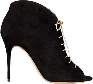 Alexandre Birman Coco Peep Toe Lace-Up Booties
