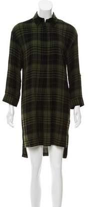 Alice + Olivia Plaid Knee-Length Dress