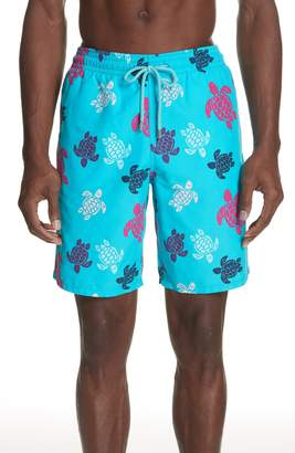 Vilebrequin Multicolor Turtle Print Swim Trunks