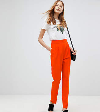 Asos Tall TALL High Waist Tapered Pants