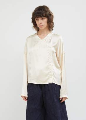 Hache Silky Button Front Blouse