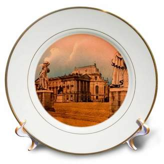 3dRose Vintage Versailles Palace Paris French History Royalty France - Porcelain Plate, 8-inch