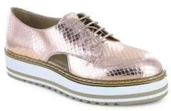 White Mountain Summit By Brody SI0287 Textured Leather Platform Oxfords